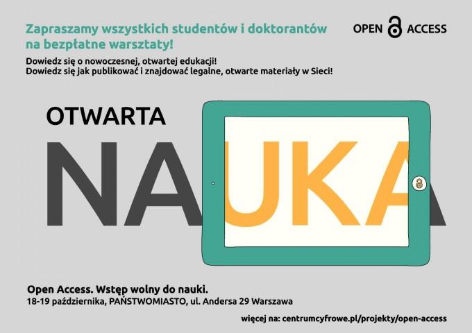 warsztaty open access_plakat