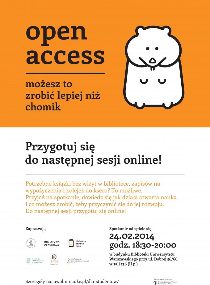 Open Access - przygotuj się donastępnej sesji online!