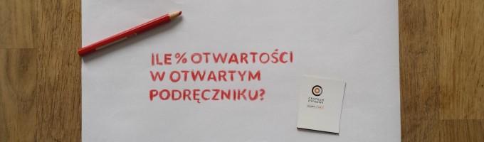 Ile % otwartości wotwartym podręczniku?