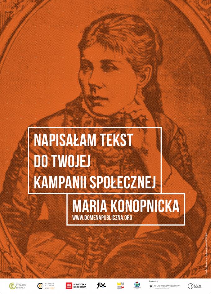 plakaty_Dzień-Domeny-Publicznej_Maria-Konopnicka