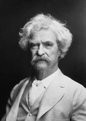 Portret Marka Twaina autorstwa A.F. Bradley, 1907, domena publiczna