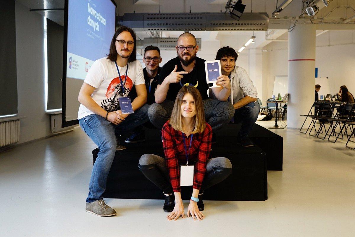 SLAVIC - Zwycięski zespół podczas Hackathonu