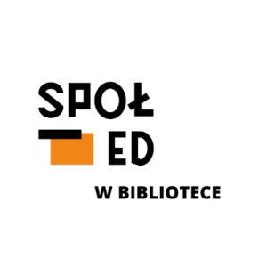 logo społed w bibliotece