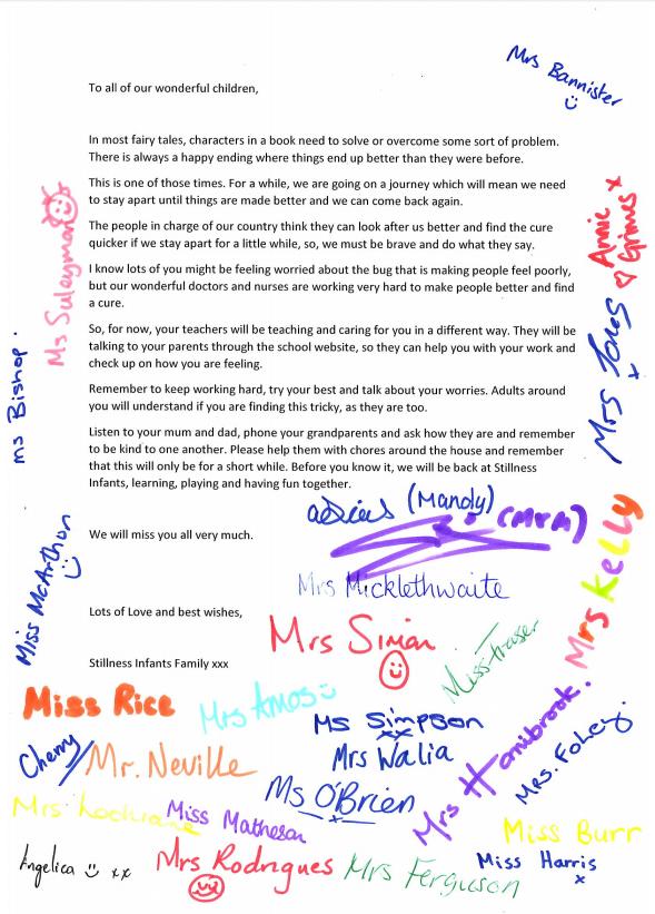 list z odręcznymi podpisami nauczycieli