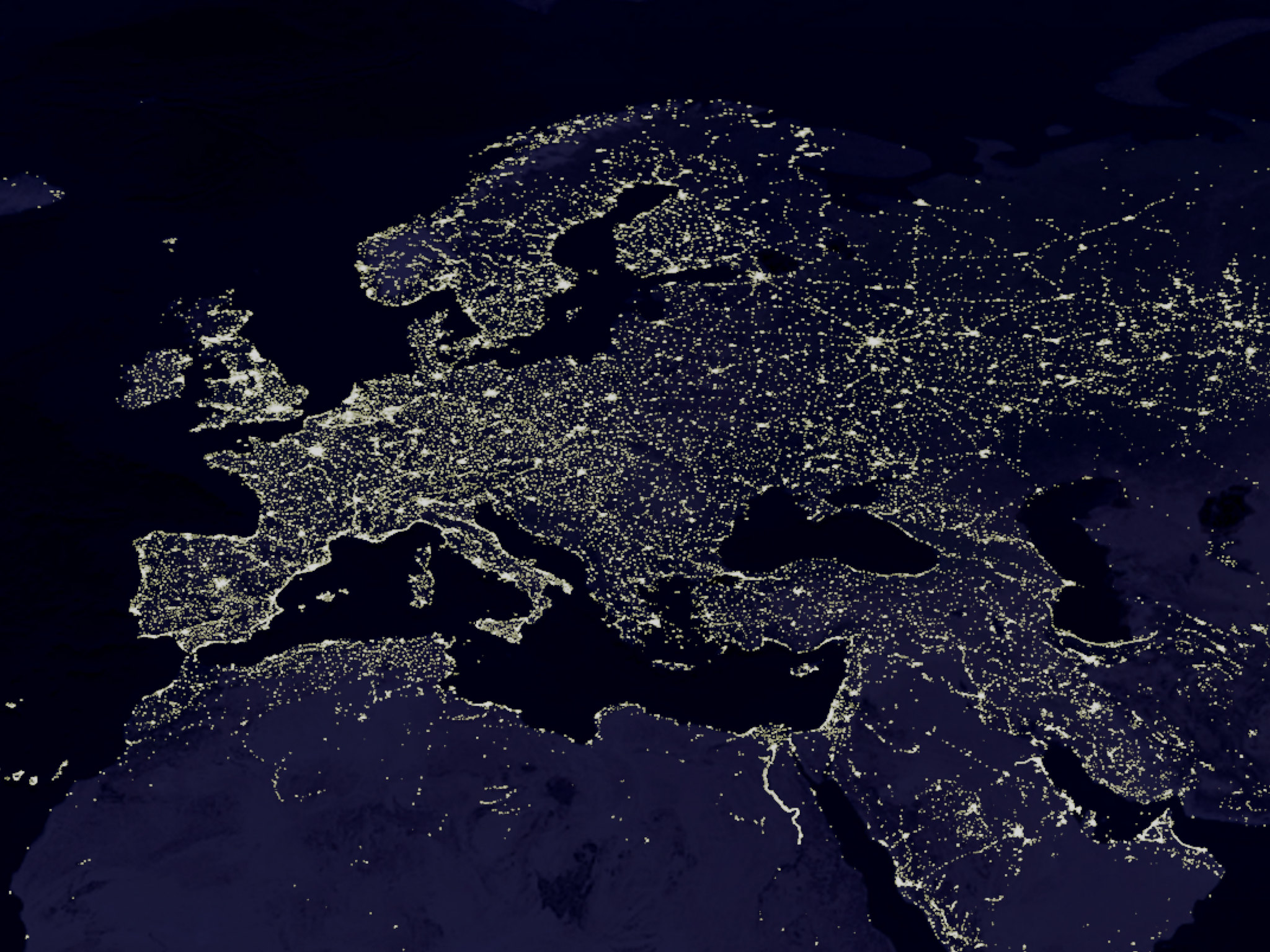 The Night Lights of Europe
